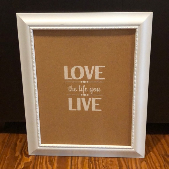 """Other - """"Love the life you live"""" cork board wall art"""